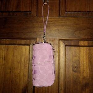 Coach Pink Cosmetic Makeup Bag